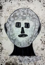Seelenverwandte 2: Tusche und Acryl auf Papier, 29,5 x 20,5 cm, 2019
