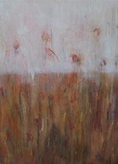 Mohnblumen III , Mischtechnik auf Leinwand, 60 x 80 cm, 2006