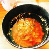 酢生姜とろろ昆布のお吸い物