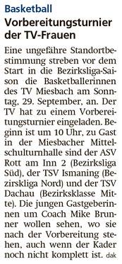 Artikel im Miesbacher Merkur am 27.9.2019  - Zum Vergrößern klicken