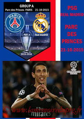 Programme pirate  PSG-Real Madrid  2015-16