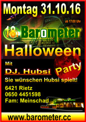 18. Halloweenparty im Barometer in Rietz Feiern macht Spaß