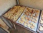 Lors de notre visite, un groupe d'enfants avait confectionné des biscuits.