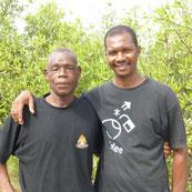 Sidibé, Koordinator, mit Sadou, Projektleider