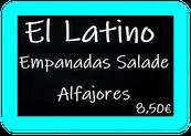 Menu El Latino Empanadas et Alfajores