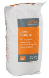 WEM Lehm - Feinputz, Wandheizung, Flächenheizung- und Kühlung, Lehm - Universalputz, Feinputz