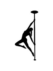 Pole Dance Figur an der Stange