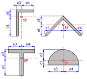 Randfaserabstände (Beispiel Winkelprofil bzw. L-Profil)