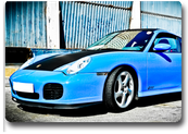 Porsche turbo azul/carbono