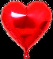 Folieballon Hart rood €1,50  46 cm