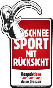 """Logo """"Schneesport mit Rücksicht, respektiere deine Grenzen"""""""