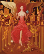 """Angels` school"" - oil/canvas Lukas Kandl 2008"