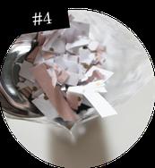 Bild: Notfall Konfetti als Geschenkidee einfach selber machen, DIY Anleitung für Konfetti, Schritt 3: Ausschneiden, gefunden auf Partytories.de