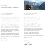 Der frühere FIFA Präsident Sepp Blatter als Privatperson: Einladungstext Stiftung