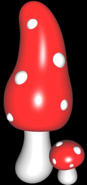 3D Pilz mit impliziten Flächen