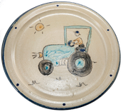 Kinderteller Motiv Traktor