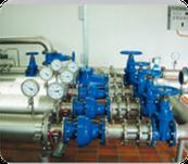 Installationen im Pumpwerk mit Lieferung von Pumpen und Schiebern