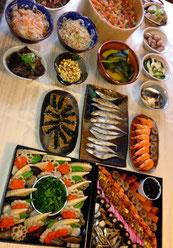 今年もお正月っぽい料理を何とか完成。日本食は美味しくて美しくて、作るのも楽しいと感じます。