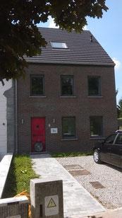 test d'infiltrométrie à l'air (BlowerDoor) d'une maison à Trognée en 2017 - PrismEco