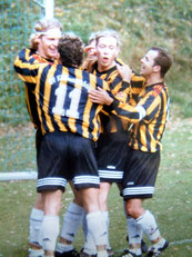 Eine Mannschaft: Wimmer, Obermayer, Feil, Abfalter