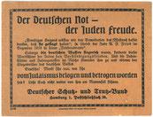 Deutscher Schutz- und Trutzbund, 1919. StA Göttingen