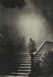 René Jacques, Portrait de Jean Gabin (sur le tournage du film Remorques de Jean Grémillon à Brest), 1941, photographie, collection artothèque du musée des beaux-arts de Brest métropole.