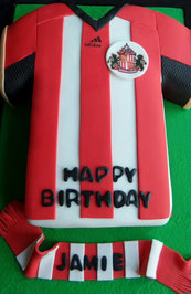 Sunderland SAFC Football shirt birthday cake