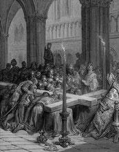 La redécouverte de la Vraie Croix, d'après Gustave Doré.