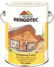 Bergotec Holzschutz-Lasur - dekorative, flüssige Holzschutz-Lasur für außen in 12 Farbtönen