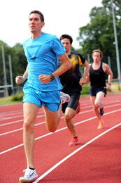 die drei besten Läufer des team2012.at beim gemeinsamen Training