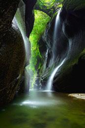 由布川峡谷 写真