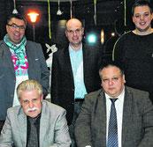 OV-Vors. Auer (1. v. links) mit wiedergewählten OV-Vorstand