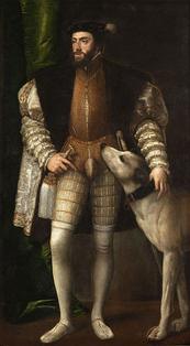 TIZIANO VECELLIO - Ritratto di Carlo V