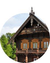 Holzhaus der russischen Kolonie Alexandrowka