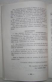 Publicación en el Boletín Diocesano. Pulsar en la imagen para agrandar