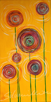 Sticky Sweet Flowers, Acrylbild silvanillion