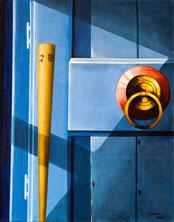 The gateless gate. Koan Hegikan roku. Oil on canvas. 1mx80cm