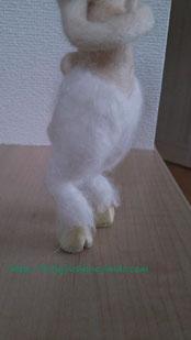 羊毛フェルト フォーンの足
