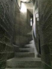 写真9 ウォレス・ナショナル・モニュメントの中(246段の階段の一部)