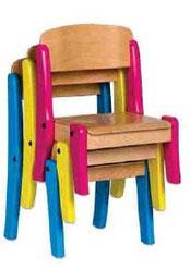 Chaise empilable, mobilier pour petite enfance, assistantes maternelles, RAM à acheter pas cher. Chaise empilable de qualité pour l'aménagement des espaces petite enfance.
