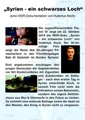 """Hubertus Koch am 22.10.2015 """"Syrien - ein schwarzes Loch"""""""