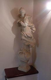 Restaurierte Kirchenfigur