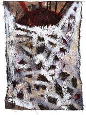 "Eduard Bousrd Bangerl, ""mana"", Mischtechnik / Molino,  75 x 61 cm, 1997"