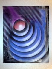 Space-Torte, 40x60cm / verkauft