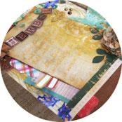 Dekoration - Herbstbild in der Scrapbooking-Technik gestalten - DIY
