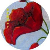 Muttertag - Acrylbild mit Mohn als Geschenk - DIY