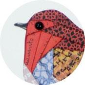 Dekoration - Rotkehlchen aus Papier in der Iris Falttechnik basteln - DIY