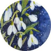Inspiration - Schneeglöckchen in Aquarell malen - DIY