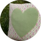 Dekoration - Kissen mit Herz nähen - DIY