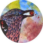 Inspiration - Amsel in Mixed Media malen - DIY-Projekt